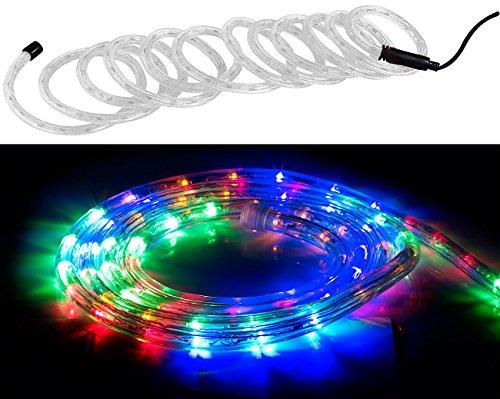 Lunartec Lichterschlauch Außen: LED-Lichtschlauch für Innen- & Außenbereich, 720 LED, 10 m, mehrfarbig (Lichtschlauch Außen)