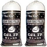 DELTA BEAN BAGS Polyurethane Bean Bag Refill Filler, 2kg (DBB - 0124 - EPS - 2K, White)