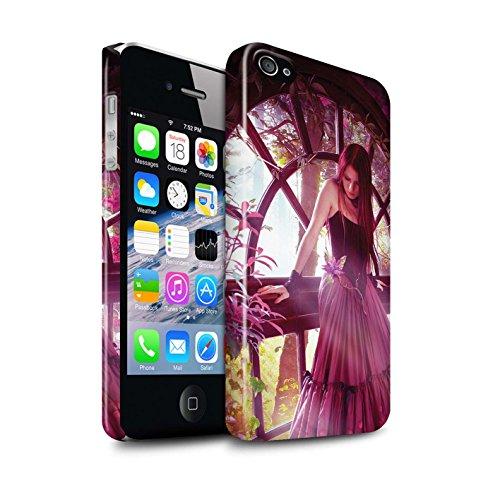 Officiel Elena Dudina Coque / Clipser Brillant Etui pour Apple iPhone 4/4S / Reine des Forêts Design / Un avec la Nature Collection Couleurs d'Automne