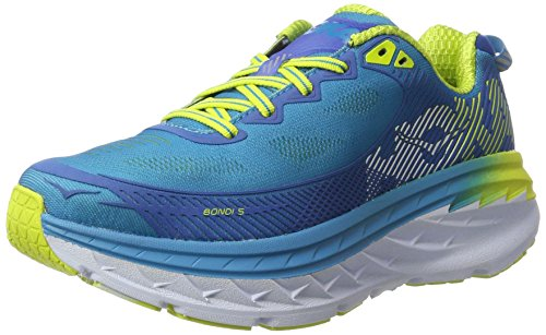 HOKA ONE ONE Bondi 5, Scarpe Running Donna, Blu (Blue Jewel/Acid), 38 EU