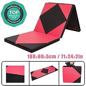 CCLIFE 180x60x5cm Klappbare Weichbodenmatte Turnmatte Fitnessmatte...