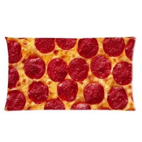 Seite Pizza Rechteck pillowcasecustom Kissenbezüge Weich Reißverschluss Kissen Kissen Fall werfen Kissenbezüge 45,7x 45,7cm -