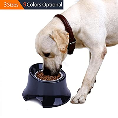 SUPER DESIGN Raised Dog Bowl, Non-spill Elevated Feeding Bowl High Stand for Dogs, Non-slip Feeder for Neck Pressure Free by SuperDesign