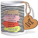 TIED RIBBONS Gift For Father | Gift For Father In Law | Gift For Fathers Day | Printed Coffee Mug With Wooden Tag