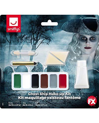 Horror-Shop 11-teiliges Ghost Ship Geister Make-up Set für Halloween