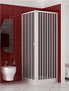 Cabine paroi de douche en Plastique PVC mod. Acquario 75x75 cm avec ouverture c