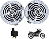 Iron Clutch Supersonic Silver Steel Grill Horns for All Bikes and Cars