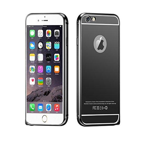 DBIT Haute Qualité Aluminium Métal Cadre Miroir de Placage Étui Coque pour Apple iPhone 6 6s iPhone 6s Housse Phone Sacs avec Dbit la poussière brancher stylet capacitif Rose-Or Gris
