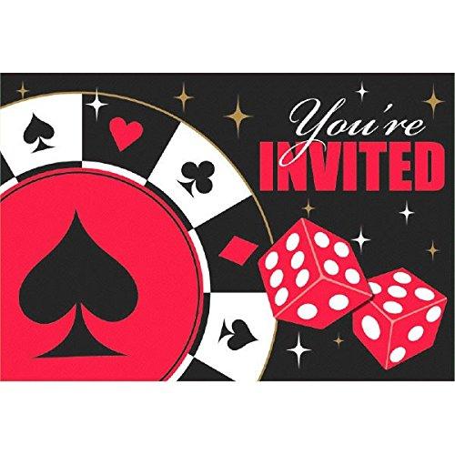 (NEU Einladungskarten Poker Spiel, 8 Stück)