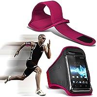 (Pink 144x 72) umidigi Diamond X Fall Hohe Qualität ausgestattet Sports Armbinden Running Bike Radfahren Fitnessstudio Joggen befreit Arm Band Schutzhülle von i-tronixs