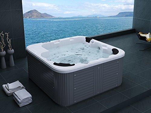 Outdoor Whirlpool Hot Tub Venedig Farbe weiß mit 44 Massage Düsen + Heizung + Ozon Desinfektion + LED Beleuchtung für 5 - 6 Personen für für Garten / Terasse / Außen - 2
