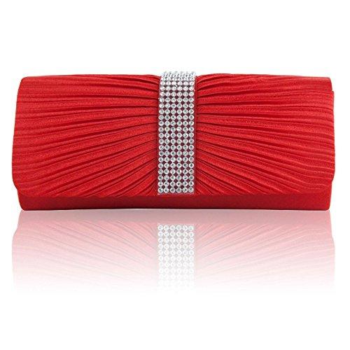 ZARLA, Borsa a spalla donna Rosso (rosso)