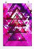 EAU ZONE Home Bild - Bild - Abstrakte pinke Dreiecke- Poster Fotodruck in höchster Qualität
