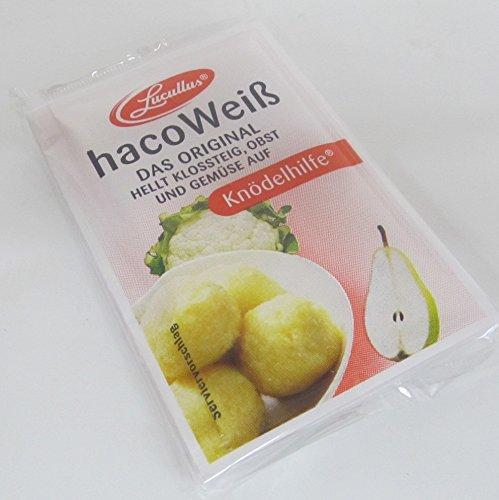 Haco Weiß Kartoffel Früchte & Gemüse Bleichmittel Knödelhilfe 5 x 5g = 25 g