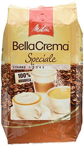 Melitta Ganze Kaffeebohnen, 100 % Arabica, mildes Aroma, leichter Charakter, milder Röstgrad, Stärke 2, BellaCrema Speciale, 1000g
