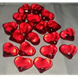30 rot groß Deko Herzen Dekosteine Diamanten für Hochzeit ca.2 cm x 2 cm Tischdeko Tautropfen vom Sachsen Versand