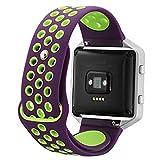 Chunyang Soft-Armband-Ineinander greifen Sport-Bügel-Silikon-Ersatz Blacelet Kette Smart-Eignung-Uhr-Gurt für Fitbit blaze