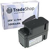 Trade-Shop Premium Li-Ion Akku 28V / 2000mAh / 56Wh ersetzt Worx WA3225 WA3565 passend für Worx L1500i WG798E M500B WG755E M800 WG790E WG794E WG794EDC