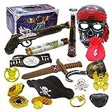 LVPY Piraten Mitgebsel zubehör Set für Pirat Thema Party-Geschenk-Kasten - vollkommenes Geburtstags-Geschenk für Jungen und Mädchen