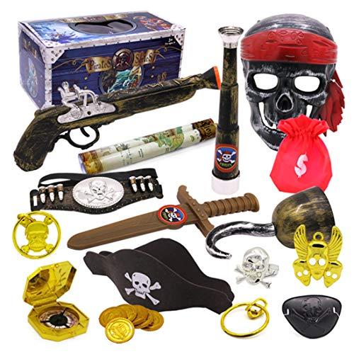 lzeug Set, 20 Stücke Piraten Mitgebsel Set Kinder Piraten Party Zubehör für Karneval, Halloween und Partys ()