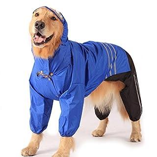 TQP-CK Manteau de Pluie pour Chien Hoodies Respirant Veste de Pluie pour Chien pour Petit Moyen Chien Chiot Imperméable Vêtements Imperméables à Capuche