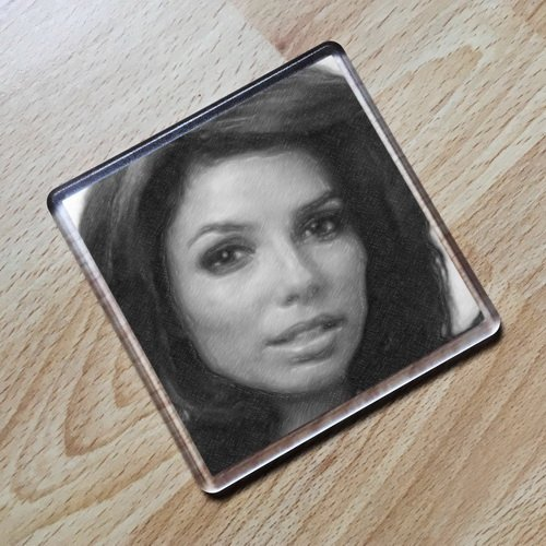 Seasons EVA LONGORIA - Original Art Coaster #js003