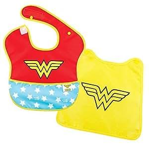 Bumkins DC Comics Super Bib with Cape, Wonder Woman, 6-24 months by Bumkins