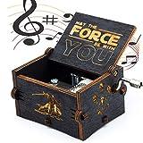 Funmo - Puro mano clásico  Star Wars caja de música caja de música de madera a mano artesanías de madera creativa Mejores regalos
