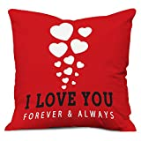 #2: Flying Hearts Cushion - Soft Printed Cover with Filler 12x12 Inches (Romantic Valentine Birthday Anniversary Gift for Boyfriend Girlfriend Husband Wife Him Her Couple Lover)