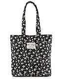 [Hotstyle moda impreso] Floral para mujer Shopper Tote bolso, S016, Green (multicolor) - HTSUS016B