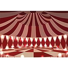 Cassisy 3x2m Vinilo Circo Telon de Fond Decoración de Interiores Espectáculo de Carpas de Circo Escenario