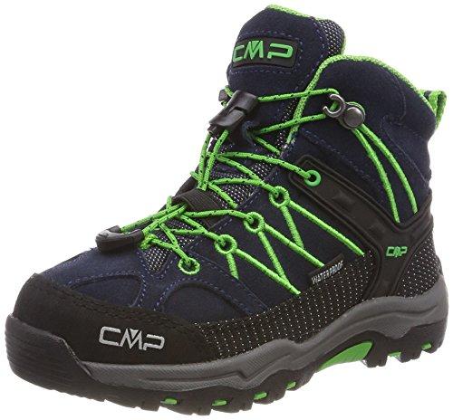 CMP Rigel Mid Wp Unisex-Kinder Trekking-& Wanderschuhe, Blau (B.Blue-Gecko), 34 EU