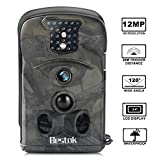 Bestok Cámara de Caza 12MP HD para Vigilancia Visión Nocturna 120 °Gran Angular Impermeable Cam Trail IR Invisible PIR Infrarrojo Sensor de Movimiento hasta 20M