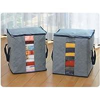 MD0238touk Bamboo Charcoal Folding Clothes Sweater Blanket Closet organizador Storage Bag Box
