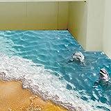 Moginp Wandaufkleber,3D Strand Boden Aufkleber Wandtattoo Removable Decals Wohnzimmer Dekore (B)