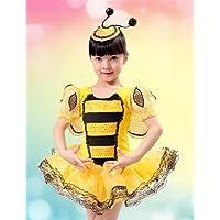 CBIN&HUA vestito dolce della ragazza strisce gialle e nere la prestazione della fase (compresi copricapo) , screen color-130 , screen color-130