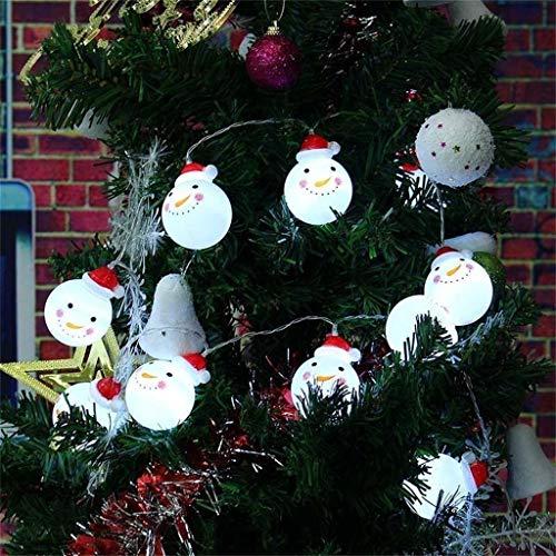 Weihnachtsbeleuchtung 10 Led Weihnachtsmann Schneemann Strings Weihnachten Innenbeleuchtung Lichterkette Fairy Light Party Home Decor Länge:1,5 m,Schneemannball 6,6 cm x 5,3 cm