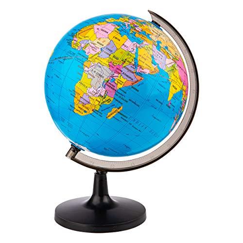 ONVAYA Globus für Kinder   Weltkugel unbeleuchtet Ø ca. 21 cm   Tischglobus zur Dekoration   Kinder Spielzeug Mini Erde