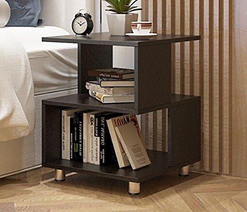 Jiuerdp camera da letto comodino mobile tavolino tavolino laterale tavolino soggiorno angolo divano componibile mini libreria quadrata (colore : black walnut)