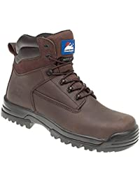 Himalayan Unisex Safety Shoes Metal Free Toe Cap Midsole S3 Work Uniform Brown