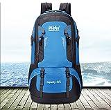 Laufen Herren Rucksäcke 60 Liter Freizeit Wasserdicht Nylon Großer Trekkingrucksack Perfekt zum Wandern Bergsteigen Reisen und für Sport und Camping (Blau)