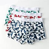 Baumwolle Herrenunterwäsche Komfort im Sommer atmungsaktiver Sport Junge Boxer Shorts 3 Paare, Mischung, XXL