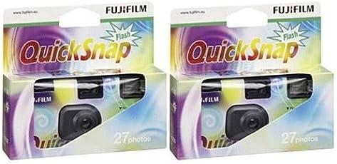 Fujifilm 7130786 Quicksnap Flash 27 Einwegkamera ISO 400 (2er Pack)