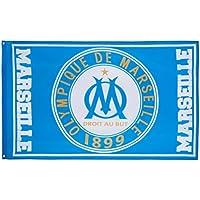 OLYMPIQUE DE MARSEILLE Drapeau OM - Collection officielle Football - 100 x 150 cm