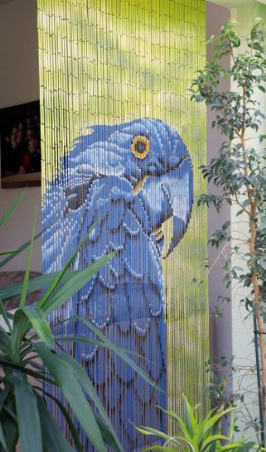 Unbekannt Bambustürvorhang Bambusvorhang Türvorhang Papagei ca. 90x200cm