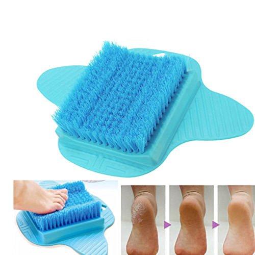 Dusche Fuß Füße Reiniger Scrub Scrubber Reiniger Waschmaschine Easy Peeling Bad Pinsel Bimsstein Spa Massagegerät (Blau-peeling Scrubs)