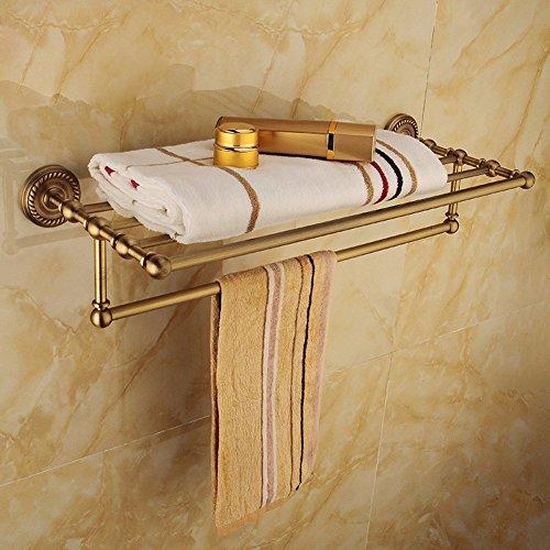 KHSKX Antique portasalviette-stile in ottone solido asciugamano da bagno accessori