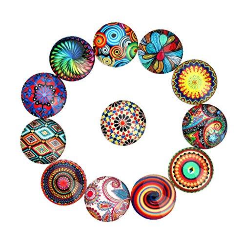 Homyl 20 Stück Gemischte Farbe Bunt Runde Kuppel -