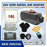 MODIFY-GT - Riscaldatore ad aria diesel, 24 V, 5000 W, serbatoio da 10 l, con telecomando e display LCD per camper, camion, barche, rimorchi, auto, camper, roulotte