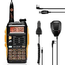 Baofeng GT-3TP Mark III Dualband Handfunkgerät UHF/VHF 2m/70cm Funkgerät Tri-Power 8W/4W/1W Walkie Talkie (GT-3TP mit Mikro und Programmierkabel)
